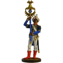 Музыкант-бунчуконосец полкового оркестра. Франция, 1804-12 гг.