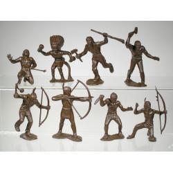 Индейцы, набор из 8-ми фигур (65 мм)
