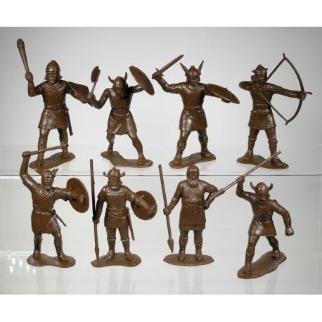 Викинги, набор из 8-ми фигур (65 мм)