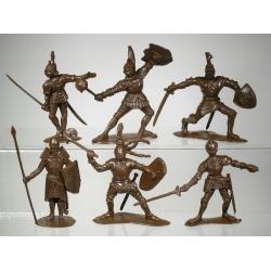 Рыцари, набор из 6-ти фигур (65 мм)
