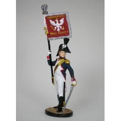Офицер-орлоносец 6-го пехотного полка. Польша 1810-14гг.