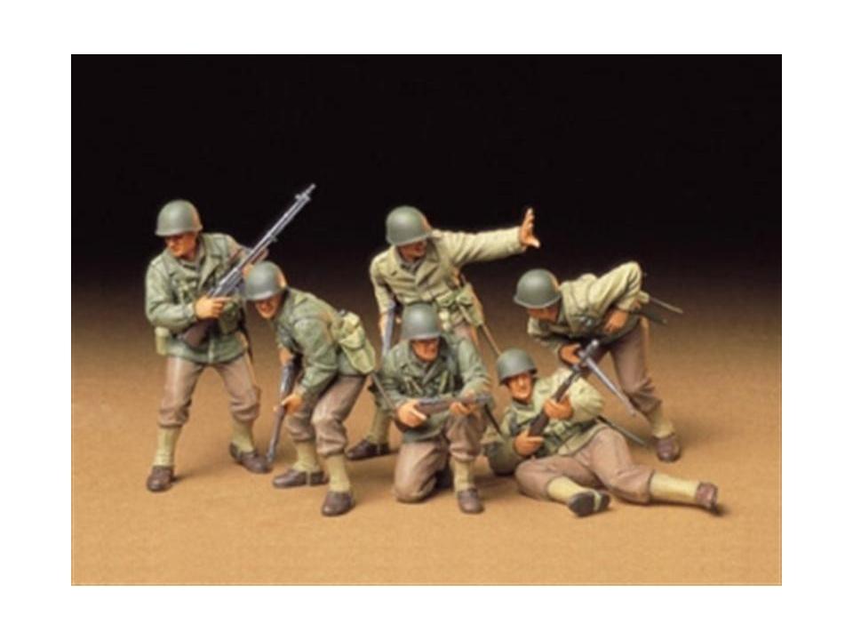 Tamiya 35192-1//35 WWII Figuren Set US Army Infantrie Neu