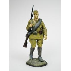 Красноармеец, в полном походном обмундировании 1941 г. (koof01с)