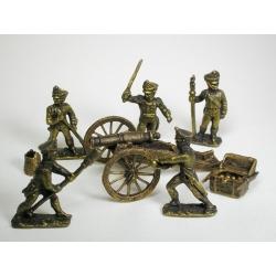 Набор игровых солдатиков: Бородино, русские артеллиристы
