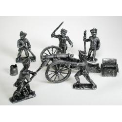 Набор игровых солдатиков: Бородино, французские артеллиристы (1729)