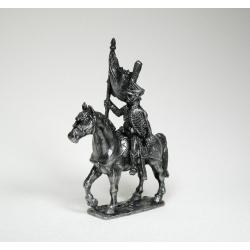 Русский конный гусар - знаменосец (чернение) 1577
