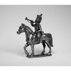 Французский конный трубач гренадер (чернение) 1731