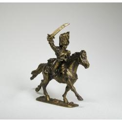 Французский конный офицер гренадер (под бронзу) 1730