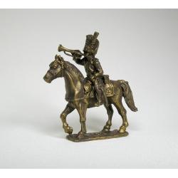 Французский конный трубач гренадер (под бронзу) 1731