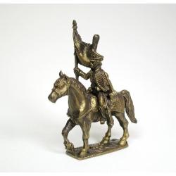 Русский конный гусар - знаменосец (под бронзу) 1577