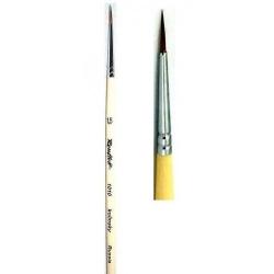 Кисть колонок круглая № 1.5, короткая ручка
