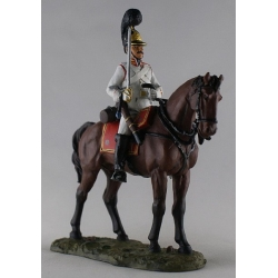 Cavalry Regiment soldier in dress uniform, 1805. Painted