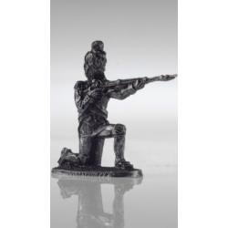 Бородино. Французский рядовой стреляющий с колена