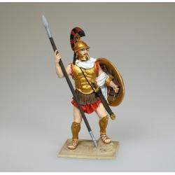 Афинский гоплит, 4 н.э. (в росписи)
