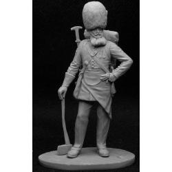Британский пионер полка Гренадеров Гвардии, 1856-57 гг. (CHM-54002(M))