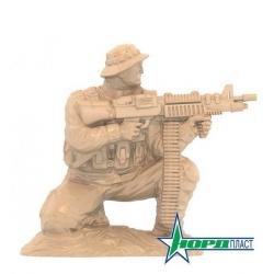 Солдаты «Морские котики» США: пулеметчик