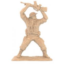 Солдаты «Морские котики» США: десантник с поднятым автоматом