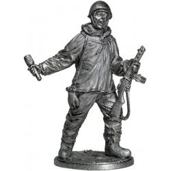 Автоматчик пехоты Красной армии в зимнем камуфляже, 1941-45 гг., СССР (WWII-11)