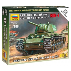 WWII Soviet heavy tank KV-1 with F-32 gun (7406)