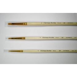 """Кисть """"Черная речка"""" синтетика, плоская, удлиненная №4, длинная ручка"""