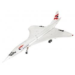 WWII Тяжелый танкСверхзвуковой пассажирский самолет Конкорд авиакомпании British Airways (04997)