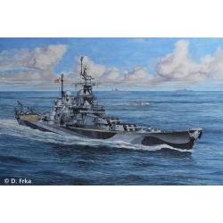 Корабль военный U.S.S. Missouri, WWII (05128)