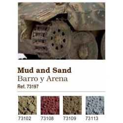 Vallejo. Набор сухих пигментов - Грязь, песок / Mud and Sand (73197)